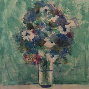 Flores (verde/azul)