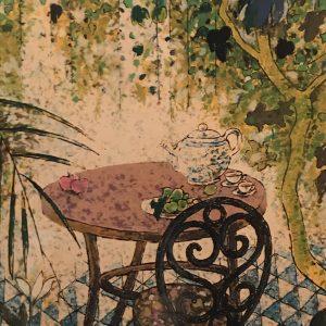 Mesa con tetera