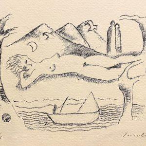 Mujer junto al agua