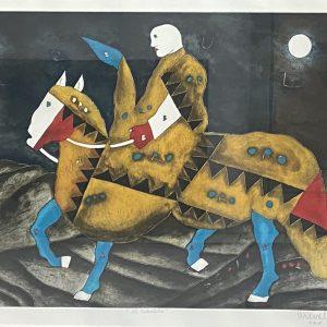 Jinete sobre caballo