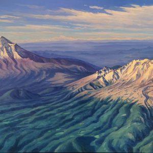 Sobrevolando los volcanes
