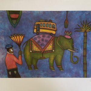 El elefante verde