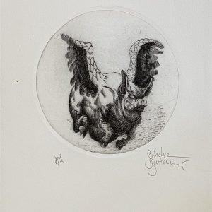 El cerdito con alas