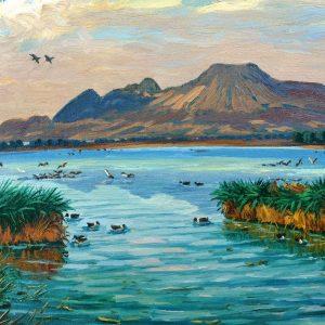 Lago y la Sierra de Sta. Catarina