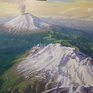 Volcanes Iztaccihuatl y Popocatepetl Vista Aerea